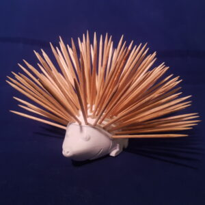 Cocktailstick hedgehog